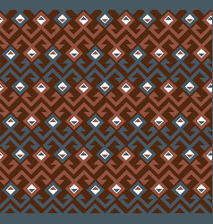 geometric ethnic ornament vector image vector image