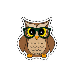 owl with glasses vector image vector image