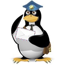 penguin postman vector image vector image