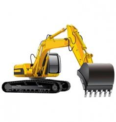 power excavator vector image vector image
