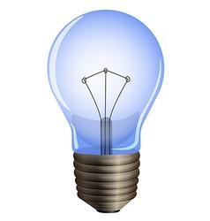 A blue light bulb vector image