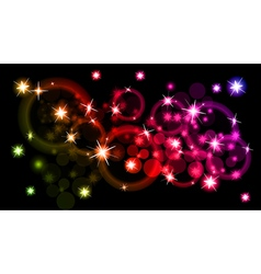 abstract background on black vector image