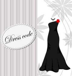 Elegant dress background vector image vector image