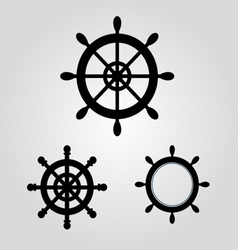 Rudder For Boat And Ship logo icon stock vector image vector image