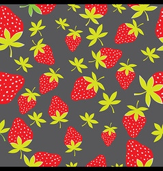 Seamless strawberry pattern Berry isolated on vector image