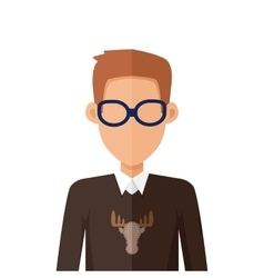Stylish Young Man in Glasses Avatar or Userpic vector image