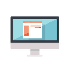 web design of site on the monitor display isolated vector image vector image
