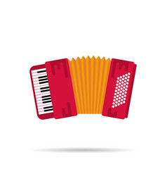 Isolated flat icon of the accordion vector