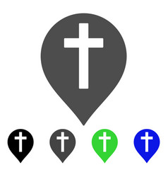 christian cross marker flat icon vector image