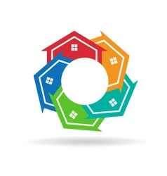 Circle of Houses vector image vector image