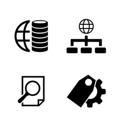 database simple related icons vector image