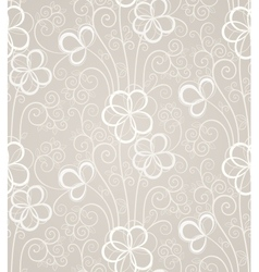 Excellent swirl floral seamless background vector image