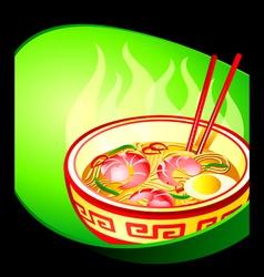 Ramen noodle vector image vector image