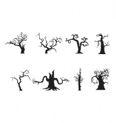 scary trees vector image vector image