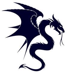 a dragon symbol vector image