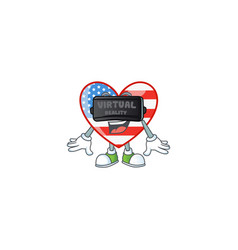 A smart character independence day love vector