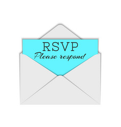 Abbreviation rsvp and please respond text to vector
