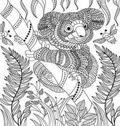 Animal coloring page vector