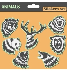 Animals Stickers set vector image