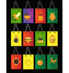 baby bags vector image