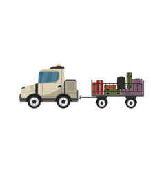 Baggage cart isolated icon vector