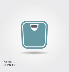 bathroom weight scale icon in flat style isolated vector image