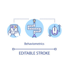 Behaviometrics concept icon vector