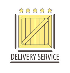 Best quality delivery logo isolated on white five vector