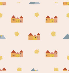 bohemianl hand drawn pattern vector image
