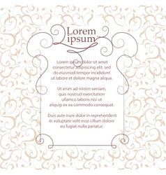 Border and classic pattern Template for greeting vector image