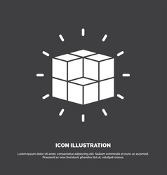 Box labyrinth puzzle solution cube icon glyph vector