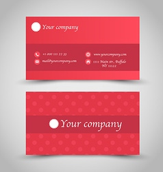 Business card set template Red color vector