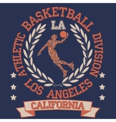 California college basketball vector