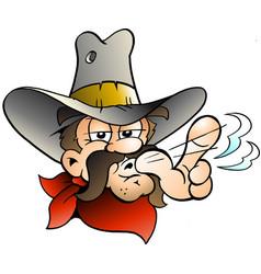 cartoon of an cowboy vector image
