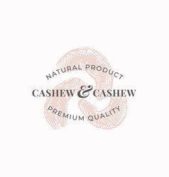 cashew abstract sign symbol or logo vector image