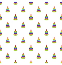 Children pyramid pattern cartoon style vector