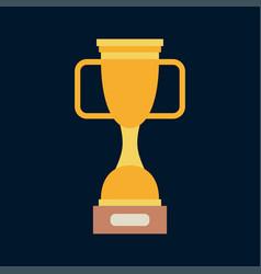 Color bowl winner cup award icon sport vector
