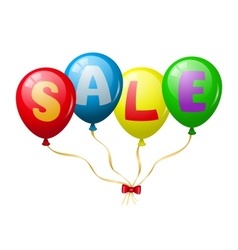 Colorful balloons sale promotion vector