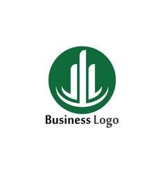 Column icon logo template design vector