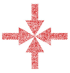 Compress arrows fabric textured icon vector