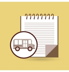 Concept bus school notebook desing vector