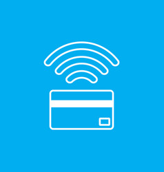 contactless payment icon near-field communication vector image