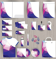 Corporate identity triangle pattern design vector