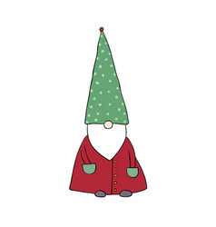 Cute cartoon gnome funny elves vector