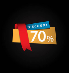 Discount 70 ribbon sale template design vector