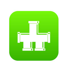 drain system icon digital green vector image