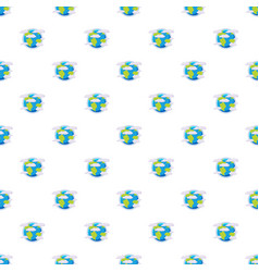 Earth planet in the clouds pattern vector