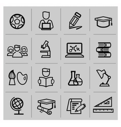 Education icons signs set vector