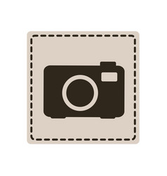emblem sticker camera icon vector image