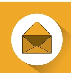 envelope mail message icon vector image